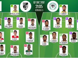Os 11's de V. Guimarães e Konyaspor para este jogo. BeSoccer