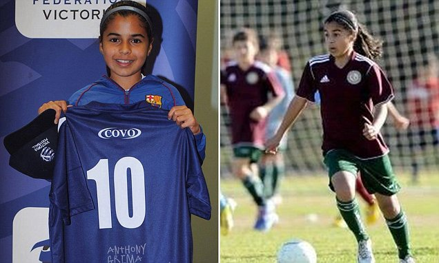 14-year-old Jacynta Galabadaarachchi has been compared to football star Lionel Messi. DailyMail