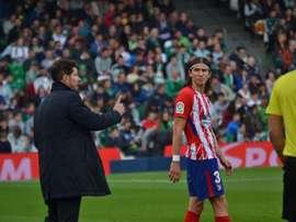 Filipe Luis reconnaît les défauts de Diego Simeone. BeSoccer
