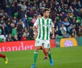Ruibal fue uno de los debutantes béticos ante el Atlético. BeSoccer