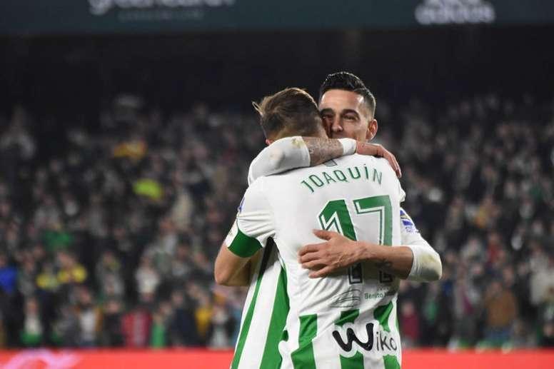Dos de los goleadores del Betis en la victoria ante el Leganés. BeSoccer