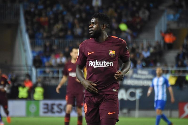 Umtiti volvió a jugar con el Barça cinco meses después