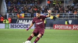Suárez abriu o ativo no La Rosaleda. BeSoccer