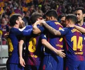 Alba, Piqué, Messi, Busquets, Dembélé et Luis Suarez ont été titularisé sans pré-saison. AFP