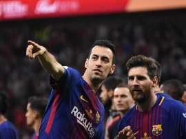 Busquets a passé en revue l'actualité du Barça. BeSoccer