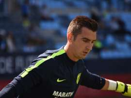 El guardameta debutó en La Rosaleda en Liga. BeSoccer