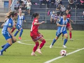 María Ruiz (i) marcó el gol de la victoria. BeSoccer