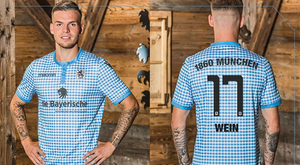 Daniel Wein models the new kit. Twitter/TSV1860