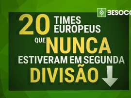 Confira os 20 times europeus que nunca estiveram em segunda divisão. BeSoccer