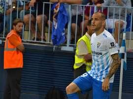 Sandro, joueur du CF Malaga et de la sélection espagnol U21. BeSoccer