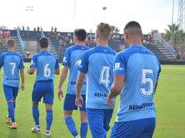 Los blanquiazules desperdiciaron el empate del Almería B. BeSoccer