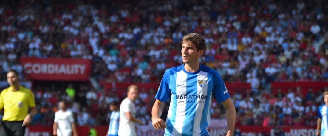 Mula, lors d'un match entre Malaga et Séville. BeSoccer