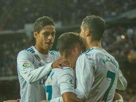 Ronaldo celebrates his goal against Malaga. BeSoccer