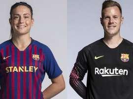 Ter Stegen e Alexia Putellas ganham prêmio. FCBarcelona