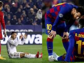 Hazard et Dembélé enchaînent les blessures. EFE