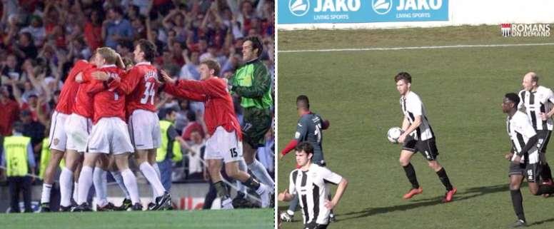 A la izquierda, el Bayern-Manchester United; A la derecha, el Bath-Weston Super-Mare. BeSoccer