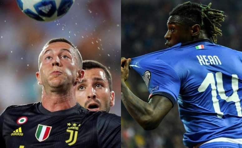 Les deux joueurs prometteurs de la Juve. AFP
