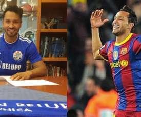 Barça academy star, goalscorer in El Clasico... Jeffren's new club. AFP