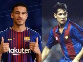 À gauche, Marcus McGuane, à droite, Gary Lineker. FCBarcelona