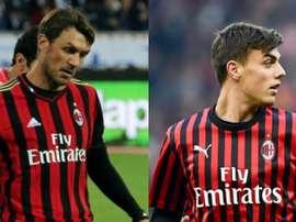 Segunda e terceira geração da família no Milan, Paolo Maldini e Daniel Maldini estão curados. AFP