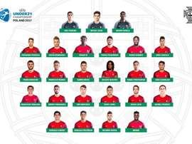 A 'Seleção de esperanças' portuguesa é, atualmente, vice-campeã da categoria. FPF