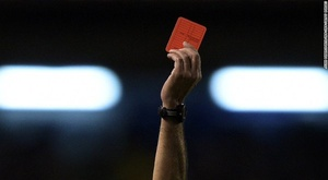 A pensioner attacked a referee with a wooden bat. Twitter
