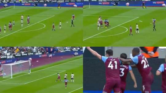 Le coup franc parfait de Cresswell pour faire couler Man United. Capture/beINSports