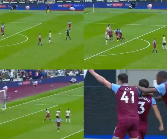Cresswell scored a great free-kick. Captura/beINSports