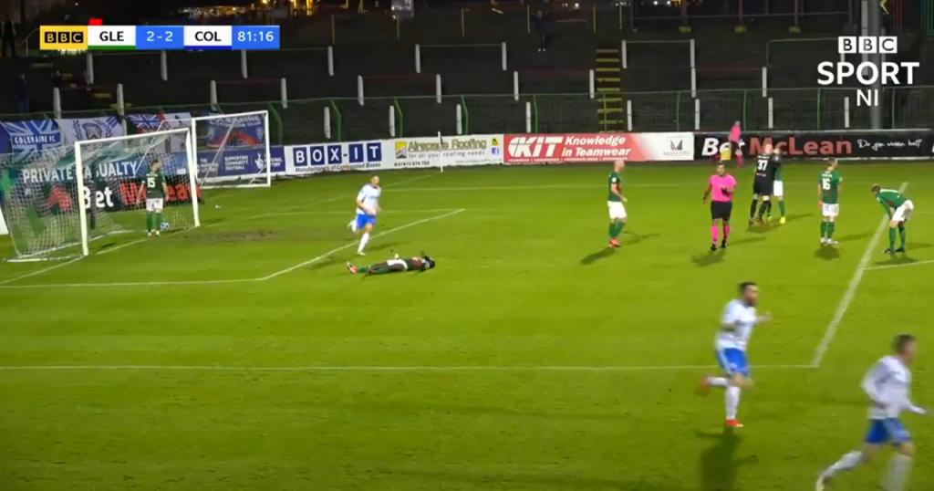 Goalkeeper hits defender after conceding goal!