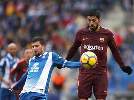 Espanyol e Barcelona empataram em 1-1. EFE