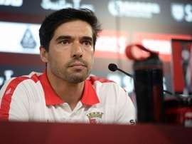 O técnico do Sporting de Braga revelou ambição para a receção ao conjutno turco. Twitter/SCBraga
