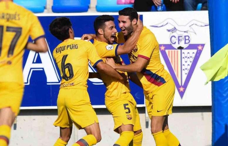Abel Ruiz abrió la lata pronto. FCBarcelonaB