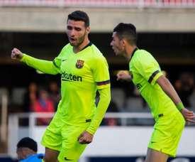 Abel Ruiz n'écarte pas l'idée d'un prêt. Twitter/FCBarcelonaB