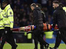 Aberdeen defender Andrew Considine left the field with a neck injury. Twitter/AberdeenFC