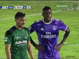 Abner, en el partido de su reaparición con el Castilla. RMTV