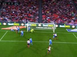 Sasaeta marcó otro gol olímpico. Captura/LaLigaTV