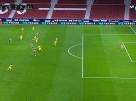 Joao Felix and Luis Suarez combined and the latter scored. Screenshot/MovistarLaLiga