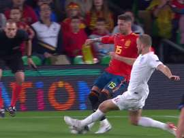 El jugador inglés se vengó de Sergio Ramos. Captura/TVE