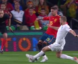 Pochettino se mostró orgulloso de Dier tras la acción con Ramos. Captura/TVE