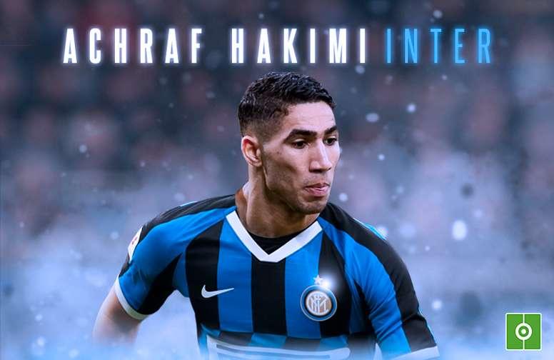 Hakimi é o novo reforço da Inter de Milão. BeSoccer