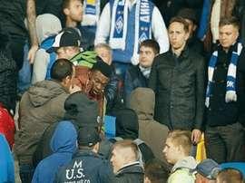 Acto racista durante un partido de Champions. Twitter