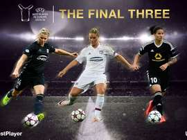 Ada Hegerberg, Amandine Henry and Dzsenifer Marozsán, candidatas a Mejor Jugadora de Europa en la 2015-16. UEFA
