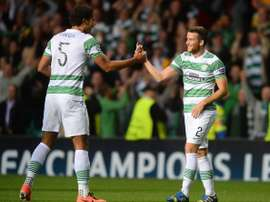 Adam Matthews (L) completed a £2million transfer from Celtic to Sunderland.