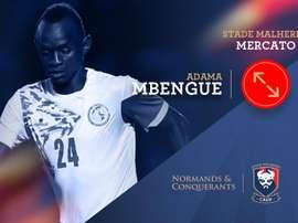 Adama Mbengue firma con la entidad francesa por cuatro años. SMCaen