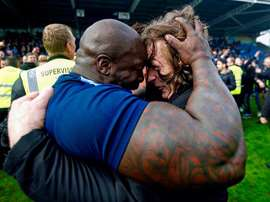 Akinfenwa is nicknamed 'The Beast'. Twitter/daRealAkinfenwa