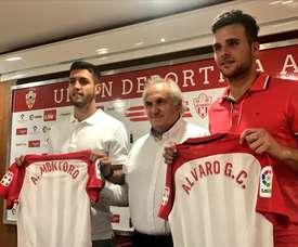 Montoro y Álvaro Giménez quieren ayudar a cumplir los objetivos. Twitter/UDAlmeria