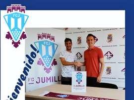 Montesinos llega cedido por una temporada al Jumilla. FCJumilla
