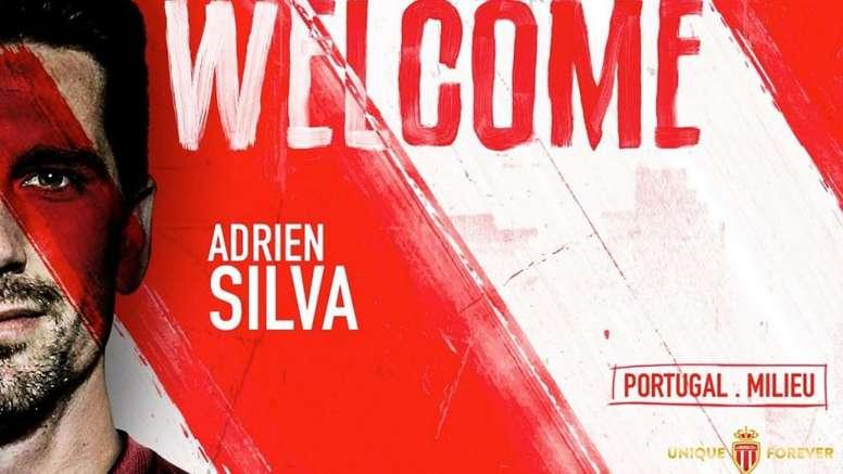 Silva seguirá en la Ligue 1. Twitter/AS_Monaco