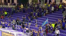 ¡Invasión de grada para no perderse la tanda de penaltis! Captura/OrlandoCitySC