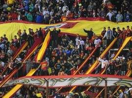 Un sector de la afición del Deportivo Español agredió a sus jugadores. Twitter